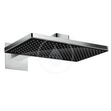 Horní sprcha 460 1jet s ramenem 460 mm, černá/chrom