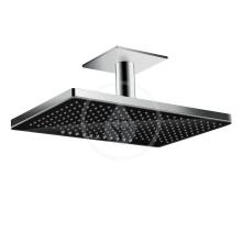 Horní sprcha 460 2jet se stropním připojením, černá/chrom