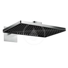 Horní sprcha 460 2jet s ramenem 460 mm, černá/chrom