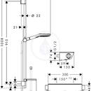 Combi 0,90 m s ruční sprchou Raindance Select E 120 3jet, chrom