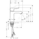 Páková umyvadlová baterie 110 LowFlow 3,5 l/min bez odtokové soupravy, chrom