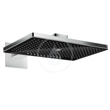 Horní sprcha 460 3jet s ramenem 460 mm, černá/chrom
