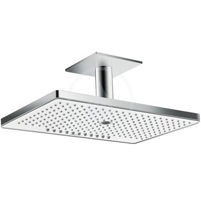 Horní sprcha 460 3jet se stropním přípojem 100 mm, bílá/chrom