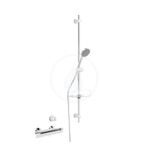 Hansa Sprchový systém s termostatickou sprchovou nástěnnou baterií, chrom 65170110
