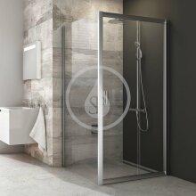 Sprchová stěna BLPS-90, 870-890 mm, satin/čiré sklo