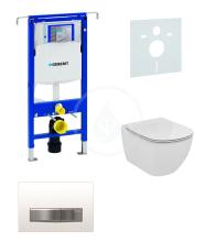 Sada pro závěsné WC + klozet a sedátko softclose Ideal Standard Tesi - sada s tlačítkem Sigma50, výplň bílá