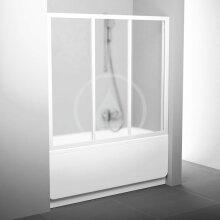 Vanové dveře třídílné AVDP3-120, 1170-1210 mm, bílá/sklo Grape
