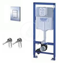 Grohe Rapid SL Předstěnový instalační set pro závěsné WC, výška 1,13 m, ovládací tlačítko Skate Cosmpolitan, chrom 38772001