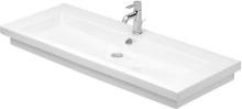 Bezotvorové umyvadlo s přepadem, 1200mm x 505mm, bílé