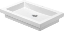 Bezotvorová umyvadlová mísa bez přepadu, 580mm x 415mm, bílá