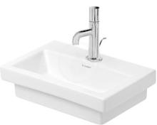 Bezotvorové umývátko bez přepadu, 400mm x 300 mm, bílé
