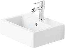 Bezotvorové umývátko s přepadem, 450mm x 350mm, bílé
