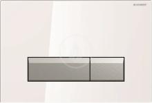Geberit Sigma40 Ovládací tlačítko Sigma40, pro 2 množství splachování, integrované odsávání zápachu, bílá/kartáčovaný hliník 115.600.SI.1