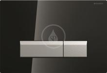 Geberit Ovládací tlačítko Sigma40, pro 2 množství splachování, integrované odsávání zápachu, černá/kartáčovaný hliník 115.600.SJ.1