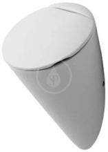 Urinál bez víka, 320 mm x 285 mm, s cílovou muškou, bílá