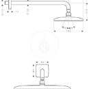Horní sprcha E 360 Air 1jet s ramenem sprchy 390 mm, chrom
