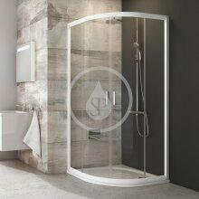 Čtvrtkruhový sprchový kout čtyřdílný BLCP4-80, 780-800 mm, bílá/čiré sklo