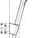 Ruční sprcha 1jet, s hadicí a držákem, bílá/chrom
