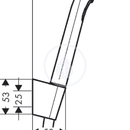 Ruční sprcha 1jet Porter Set, sada 1,60 m, bílá/chrom