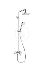 Hansgrohe Croma Select E Sprchový set Showerpipe 180, 2 proudy, bílá/chrom 27258400