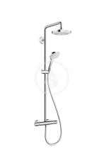 Hansgrohe Croma Select E Sprchový set Showerpipe 180 s termostatem, 2 proudy, bílá/chrom 27256400