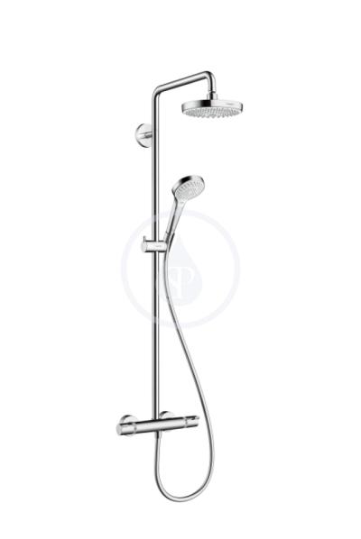 Sprchová souprava 180 2jet Showerpipe EcoSmart 9 l/min, bílá/chrom