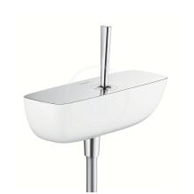 Páková sprchová baterie, bílá/chrom