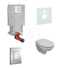 Grohe Uniset Sada pro závěsné WC + klozet a sedátko softclose Ideal Standard Quarzo 38643SET-KD