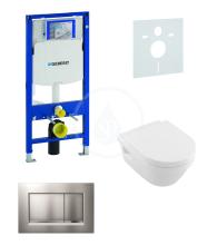 Geberit Duofix Sada pro závěsné WC + klozet a sedátko softclose Villeroy & Boch - sada s tlačítkem Sigma30, matný/lesklý/matný chrom 111.300.00.5 NB7