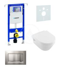 Geberit Duofix Sada pro závěsné WC + klozet a sedátko softclose Villeroy & Boch - sada s tlačítkem Sigma30, matný/lesklý/matný chrom 111.355.00.5 NB7