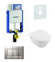 Geberit Kombifix Sada pro závěsné WC + klozet a sedátko softclose Villeroy & Boch - sada s tlačítkem Sigma30, matný/lesklý/matný chrom 110.302.00.5 NB7