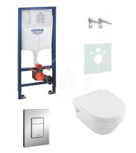 Grohe Rapid SL Sada pro závěsné WC + klozet a sedátko Villeroy & Boch 38528SET-KB