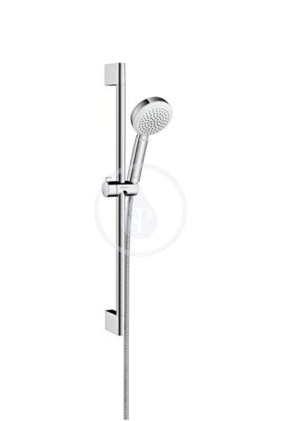 Sprchová souprava 1jet EcoSmart 9 l/min 0,65 m, bílá/chrom