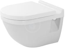 Duravit Starck 3 Závěsné WC s plochým splachováním, s WonderGliss, bílá 22010900001