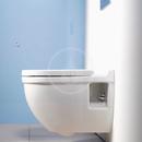 Závěsné WC s plochým splachováním, s WonderGliss, bílá