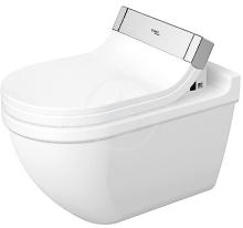 Duravit Starck 3 Závěsné WC pro SensoWash, s WonderGliss, bílá 22265900001