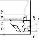 Závěsné WC pro SensoWash, bílá