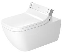 Duravit Happy D.2 Závěsné WC pro SensoWash, Rimless, s WonderGliss, alpská bílá 25505900001