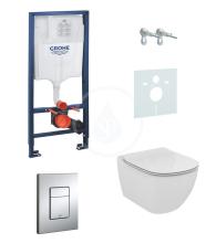 Grohe Rapid SL Sada pro závěsné WC + klozet a sedátko softclose Ideal Standard Tesi 38528SET-KE