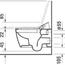 Závěsné WC Rimless pro Sensowash, HygieneGlaze, bílá