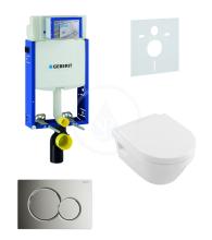Geberit Kombifix Sada pro závěsné WC + klozet a sedátko softclose Villeroy & Boch - sada s tlačítkem Sigma01, chrom 110.302.00.5 NB2