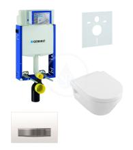 Geberit Kombifix Sada pro závěsné WC + klozet a sedátko softclose Villeroy & Boch - sada s tlačítkem Sigma50, výplň bílá 110.302.00.5 NB8