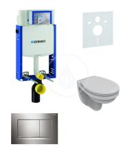 Geberit Kombifix Sada pro závěsné WC + klozet a sedátko softclose Ideal Standard Quarzo - sada s tlačítkem Sigma30, lesklý/matný/lesklý chrom 110.302.00.5 ND6