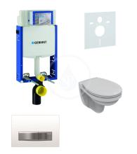 Geberit Kombifix Sada pro závěsné WC + klozet a sedátko softclose Ideal Standard Quarzo - sada s tlačítkem Sigma50, výplň bílá 110.302.00.5 ND8