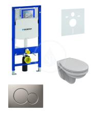 Geberit Duofix Sada pro závěsné WC + klozet a sedátko Ideal Standard Quarzo - sada s tlačítkem Sigma01, matný chrom 111.300.00.5 NR3