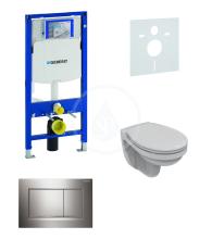 Geberit Duofix Sada pro závěsné WC + klozet a sedátko Ideal Standard Quarzo - sada s tlačítkem Sigma30, lesklý/matný/lesklý chrom 111.300.00.5 NR6