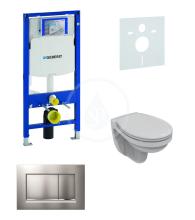 Geberit Duofix Sada pro závěsné WC + klozet a sedátko Ideal Standard Quarzo - sada s tlačítkem Sigma30, matný/lesklý/matný chrom 111.300.00.5 NR7