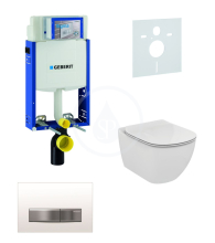Geberit Kombifix Sada pro závěsné WC + klozet a sedátko softclose Ideal Standard Tesi - sada s tlačítkem Sigma50, výplň bílá 110.302.00.5 NE8