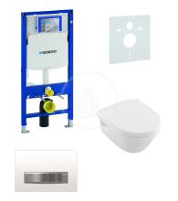 Geberit Duofix Sada pro závěsné WC + klozet a sedátko softclose Villeroy & Boch - sada s tlačítkem Sigma50, výplň bílá 111.300.00.5 NB8