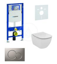 Geberit Duofix Sada pro závěsné WC + klozet a sedátko softclose Ideal Standard Tesi - sada s tlačítkem Sigma01, matný chrom 111.300.00.5 NE3